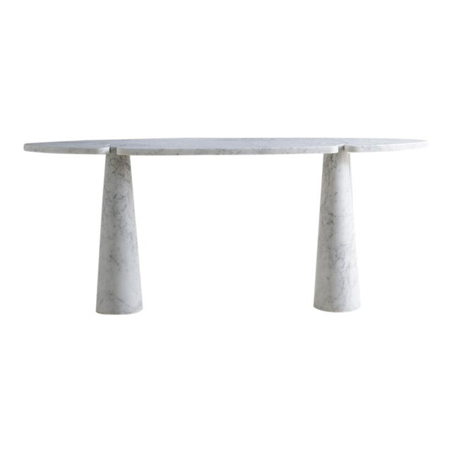 White Carrara Marble Eros Console Table by Angelo Mangiarotti for Skipper, Italy For Sale
