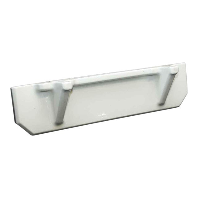 White Porcelain Bathroom Shelf | Chairish