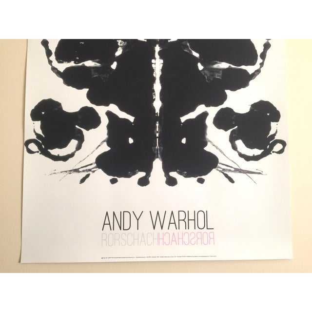 "Abstract Andy Warhol Original Lithograph Print Pop Art Poster ""Rorschach Ink Blot"", 1984 For Sale - Image 3 of 7"