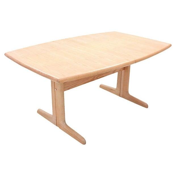 Mid-Century Modern Trestle Table - Image 4 of 7