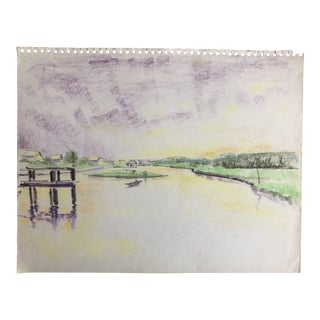 Lowcountry Marsh Scene on Pawley's Island, Sc 1966 For Sale