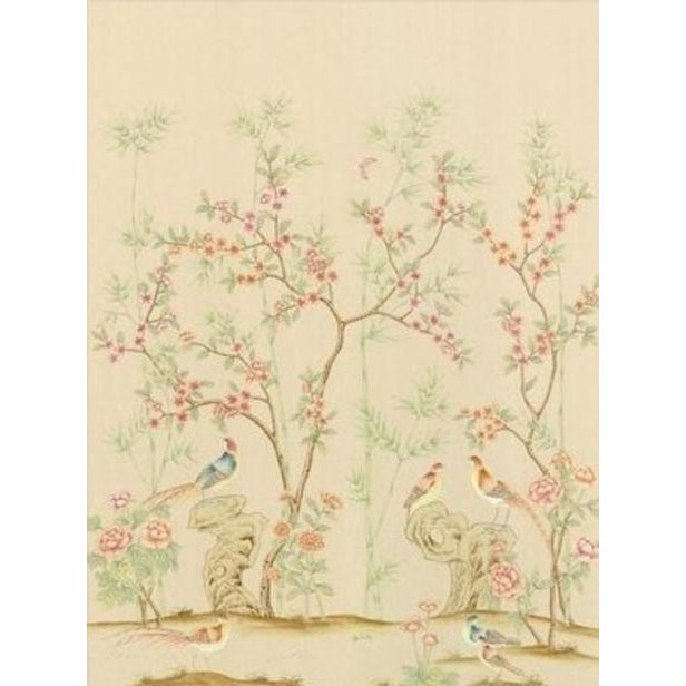 """Chinoiserie Casa Cosima Fresco Hadrian Diptych Wallpaper Mural - 2 Panels 72"""" W X 96"""" H For Sale - Image 3 of 3"""
