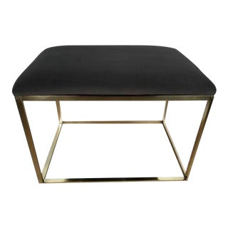1970s Italian Brass Cube Bench For Sale