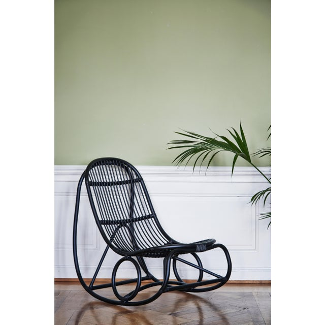 Mid-Century Modern Nanna Ditzel Nanny Rocking Chair - Black For Sale - Image 3 of 6