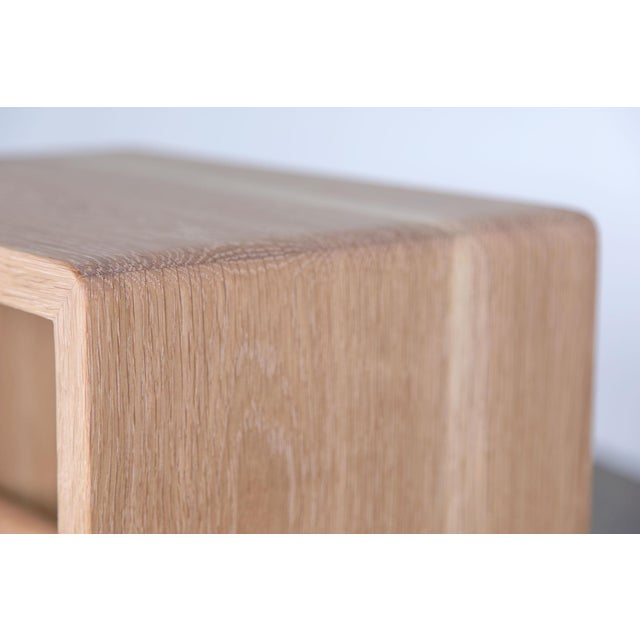 Mid-Century Modern Shortcut Low Stool in White Oak For Sale - Image 3 of 7