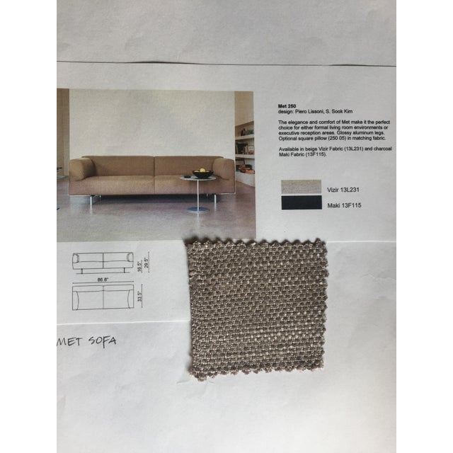 Fabric Cassina Met 250 Beige Sofa by Piero Lissoni For Sale - Image 7 of 10