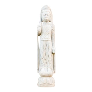 Gorgeous Quan Yin Stone Tall Statue For Sale