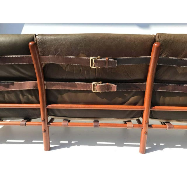 """1960s Arne Norell Leather """"Kontiki"""" Sofa For Sale - Image 5 of 13"""