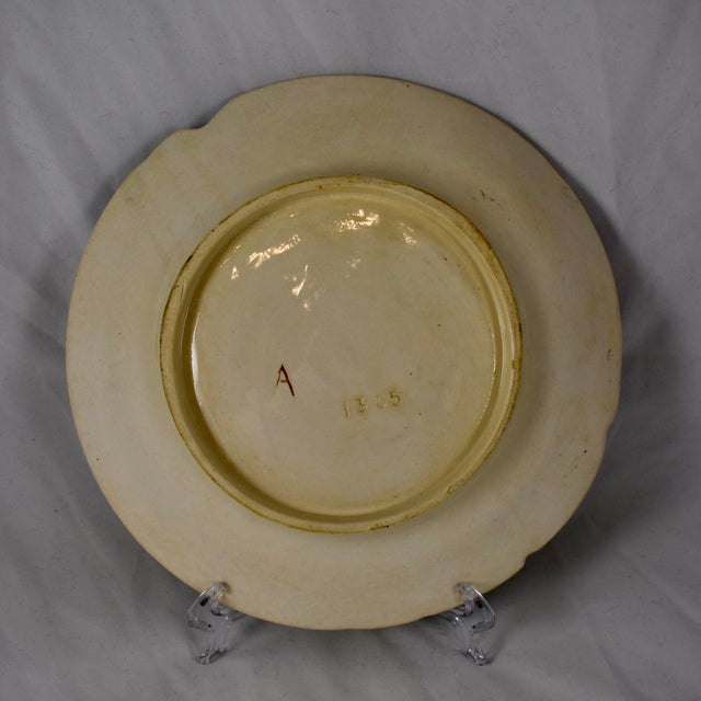 Late 19th Century Fives-Lille Majolica Artichoke & Asparagus Plate, Circa 1890 For Sale - Image 5 of 7