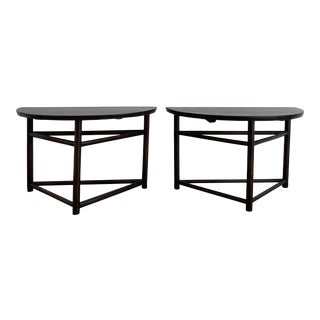 Vintage Asian Chinese Demi-Lune Tables - a Pair For Sale