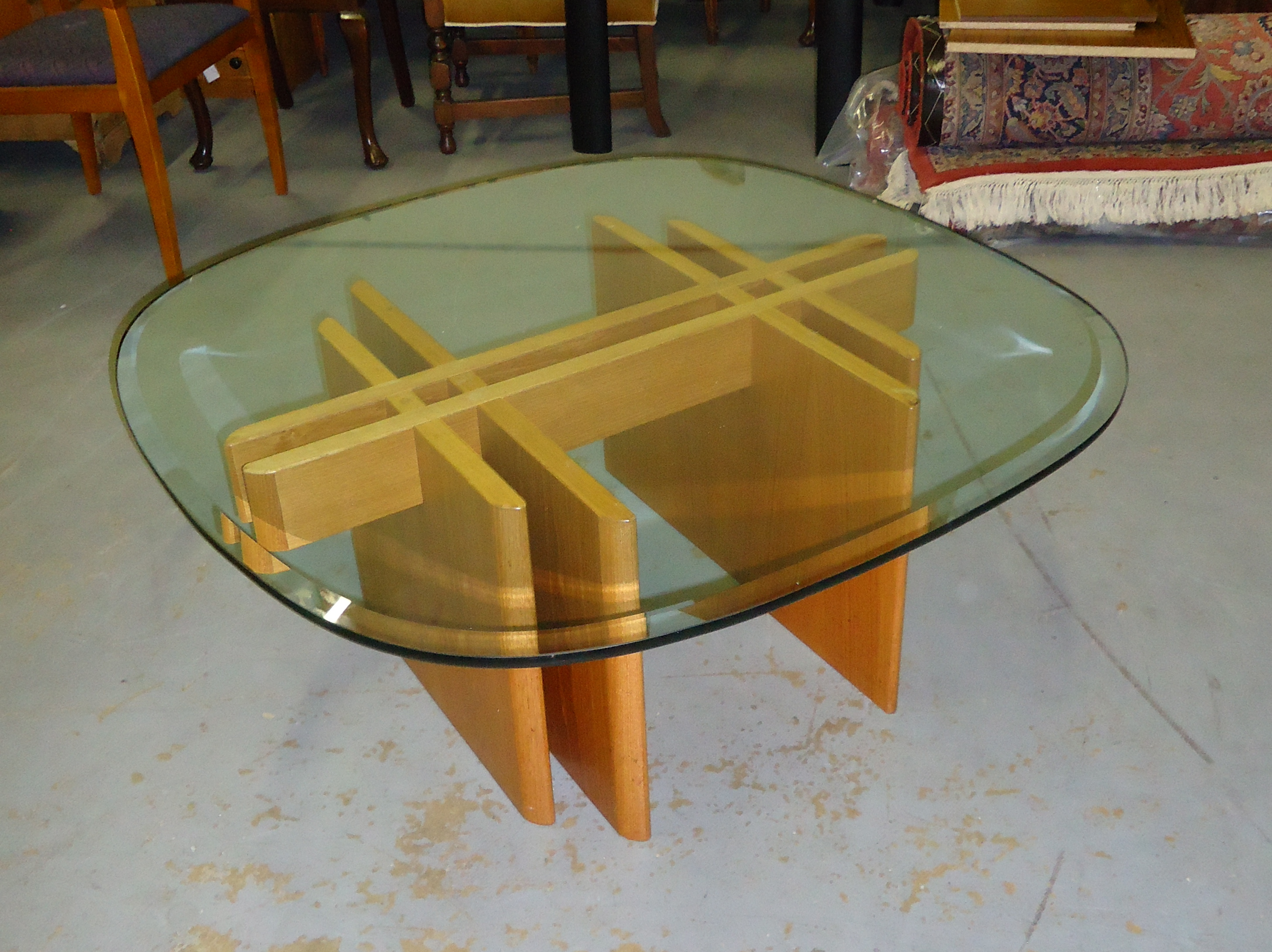 Superbe Contemporary Vintage Scan Design Coffee Table For Sale   Image 3 Of 4
