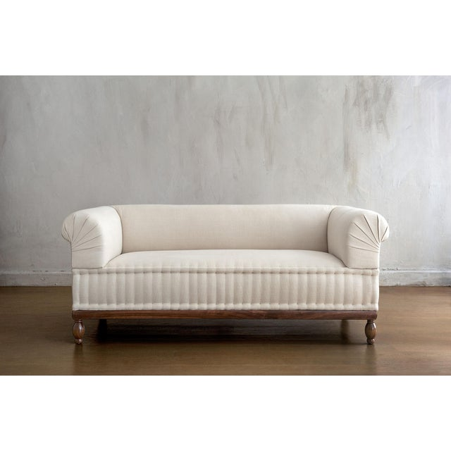 White Brampton - Pleated Sofa For Sale - Image 8 of 8