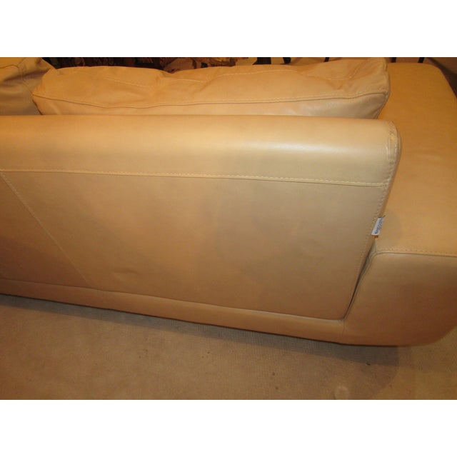 Nicoletti Italian Leather Sofa For Sale In West Palm - Image 6 of 7