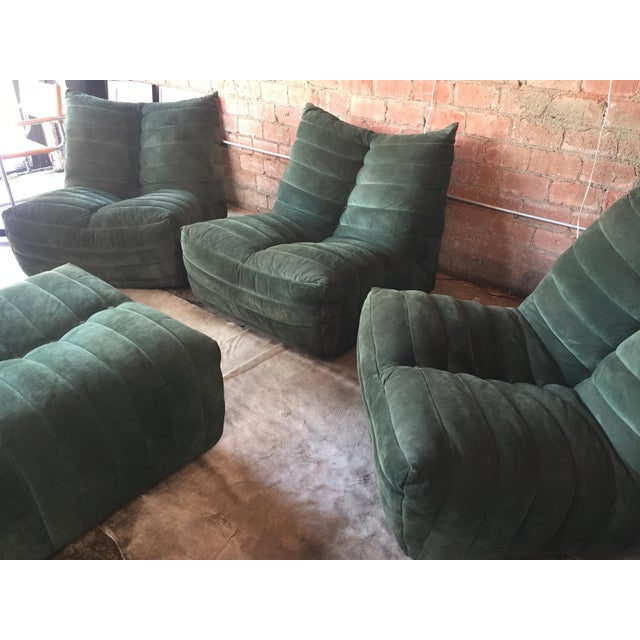 """Mid-Century Modern Modular Green Sectional Sofa """"Giannone"""" by Arch. G.Grignani for 7Salotti, Italy For Sale - Image 3 of 9"""