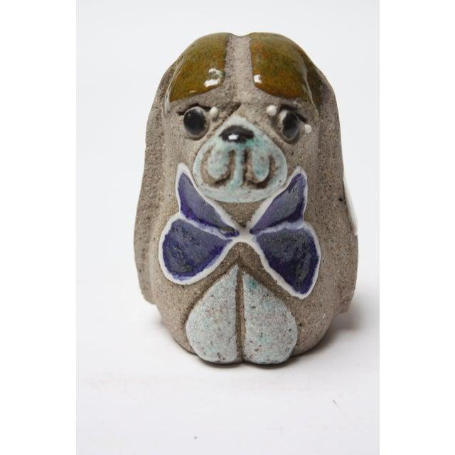 Charming Swedish Modern Ceramic Dog Figurine by Thomas Hellström for Nittsjö Keramik For Sale - Image 13 of 13