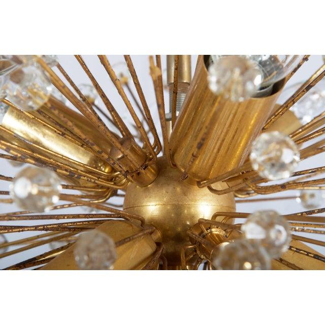 Gilded Sputnik Chandelier, 1972 For Sale - Image 10 of 11