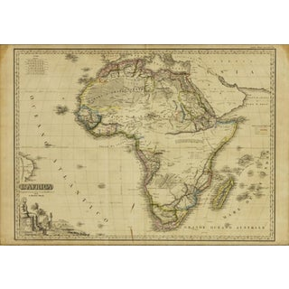 Italian Framed Printed and Hand Colored Map of Africa Preview