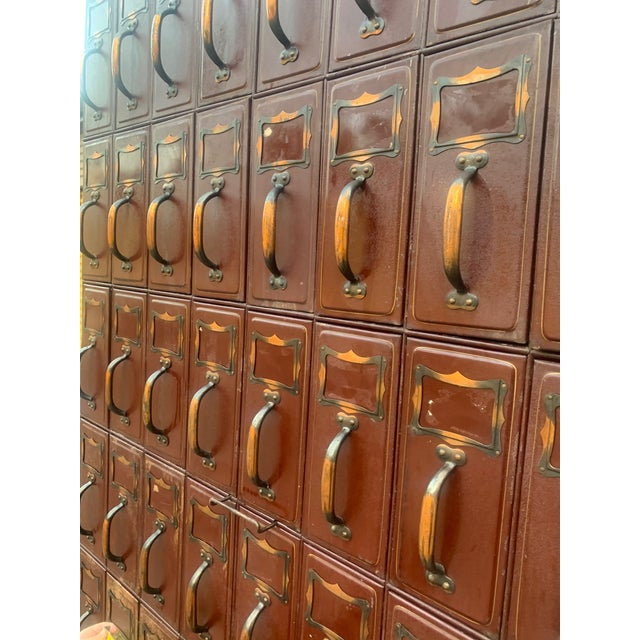 Mid 20th Century Vintage Industrial File Cabinet For Sale - Image 5 of 13