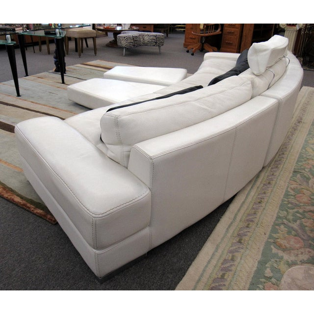 Very nice high quality Roche Bobois Modular Sofa, spacious and comfortable. The neutral leather color could fit nicely...