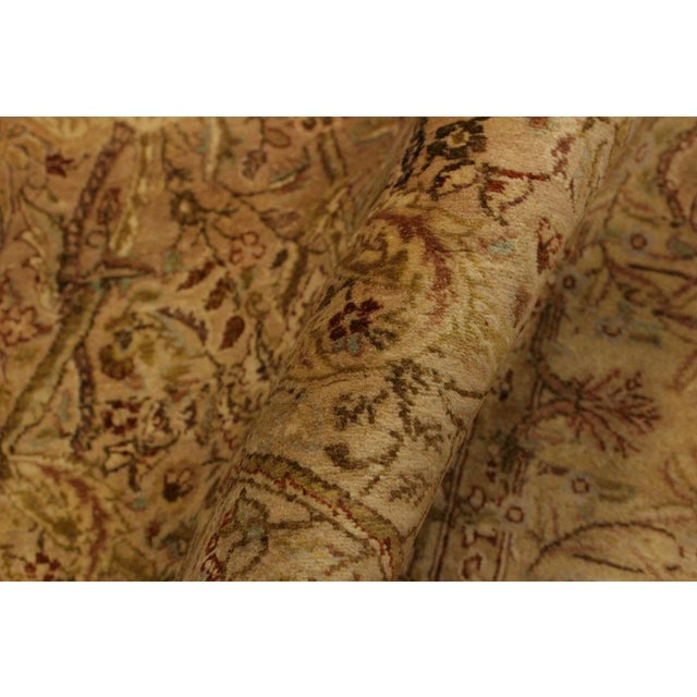 Tan Pak Persian Griselda Tan/Gold Hand-Knotted Rug -4'2 X 6'2 For Sale - Image 8 of 9