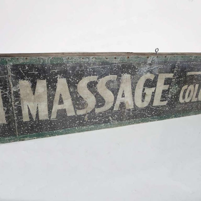 Swedish Massage and Colonics Street Sign For Sale - Image 4 of 5