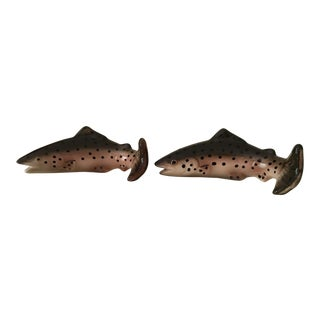 Trout Salt and Pepper Shakers - a Pair