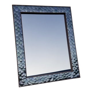 Made Goods Rectangular Thano Wall Mirror For Sale