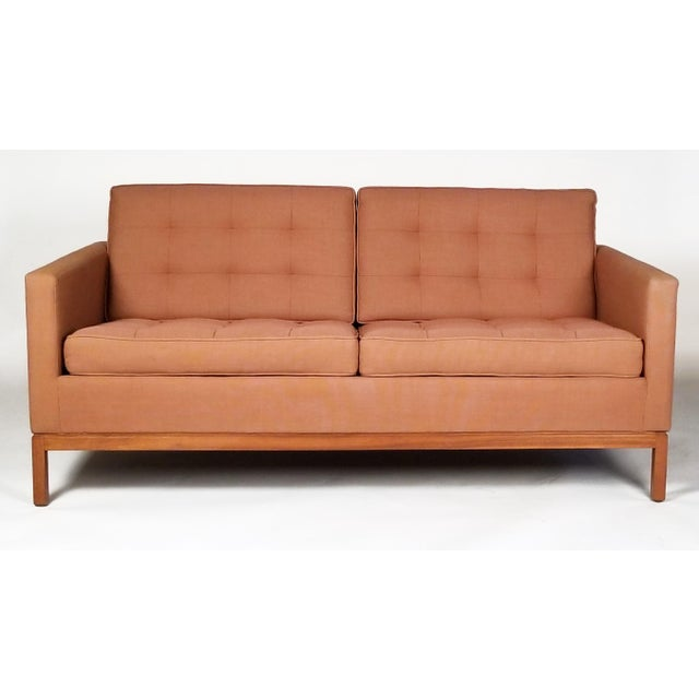 Mid-Century Modern Two Seat Sofa Designed by Florence Knoll for Knoll International For Sale - Image 3 of 7