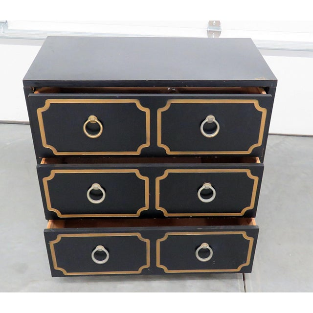 Dorothy Draper Mid-Century Modern Style Gold-Detailed Chest of Drawers For Sale - Image 4 of 10