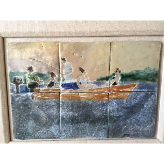 Vintage Tile Art by Ceramists AJ and Jack Ferrell - Image 4 of 4