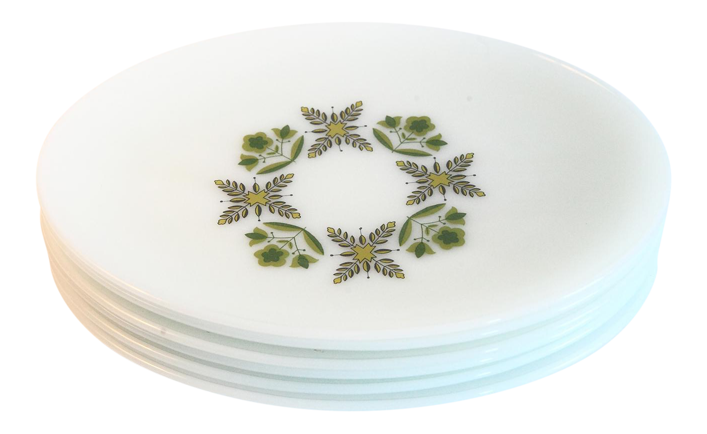 White Milk Glass Oval Dinner Plates - Set of 6  sc 1 st  Chairish & Vintage \u0026 Used Mid-Century Modern Dinnerware | Chairish
