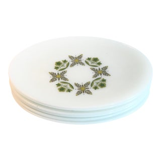 White Milk Glass Oval Dinner Plates - Set of 6