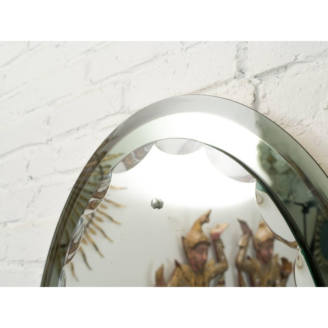 Italian Italian Cristal Art Mirror For Sale - Image 3 of 7