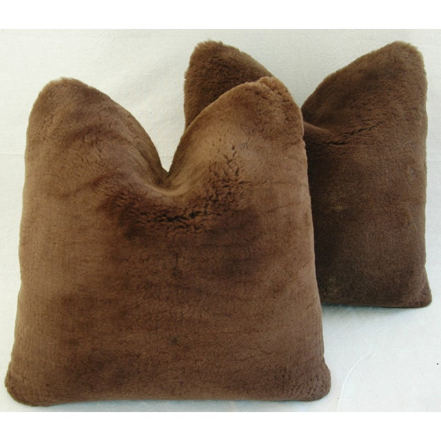Pierre Frey Plush Lambswool Pillows - A Pair - Image 5 of 7