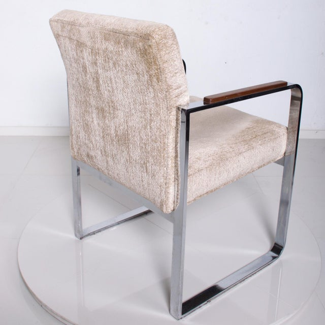 Mid Century Modern Milo Baughman for Thayer Coggin Chrome Dining Chairs-Set of 4 For Sale - Image 9 of 11