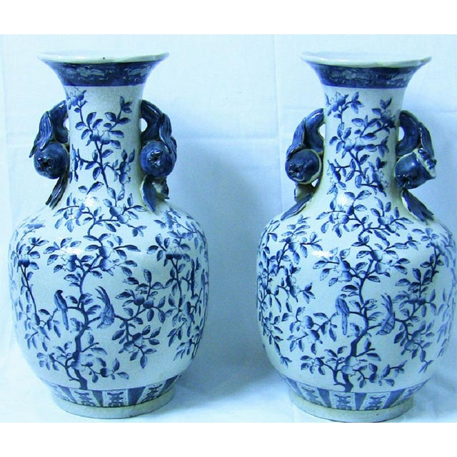 19c Pair of Large Staffordshire Ironstone Floor Vases For Sale - Image 9 of 9