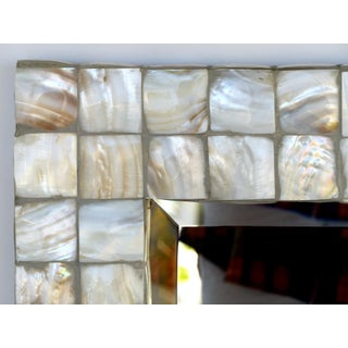 Mother-Of-Pearl Beveled Rectangular Framed Mirror Preview