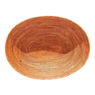 Asian Handmade Oval Bread Basket For Sale
