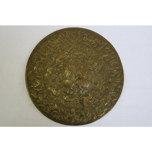 Brass 18th Century Antique Brass Plaque For Sale - Image 8 of 8