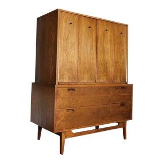Mid Century Modern American of Martinsville Walnut Gentlemans Chest Dresser