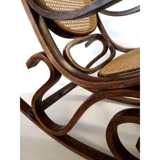 Thonet-Style Cane & Bentwood Rocker For Sale - Image 9 of 10
