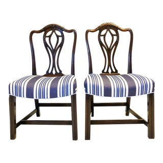 18th Century Walnut Prince of Wales Chairs, Pair For Sale