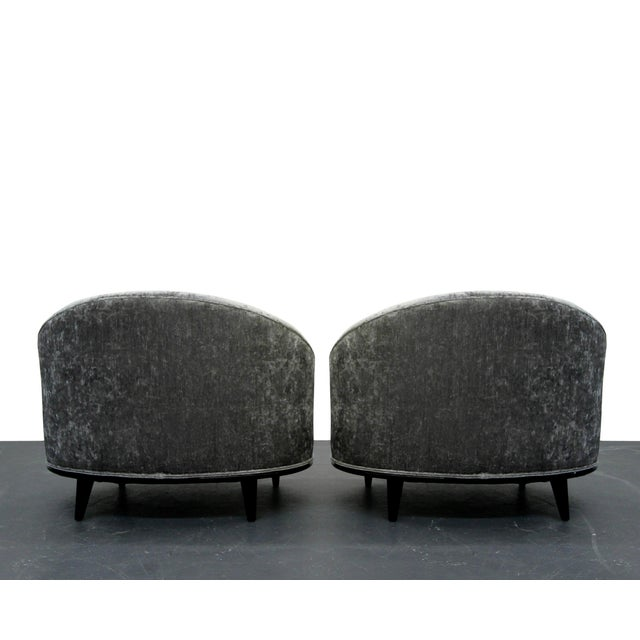 Mid-Century Barrel Back Slipper Chairs - A Pair - Image 5 of 8