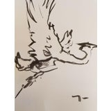 Image of Jose Trujillo Ink Wash on Paper Painting For Sale