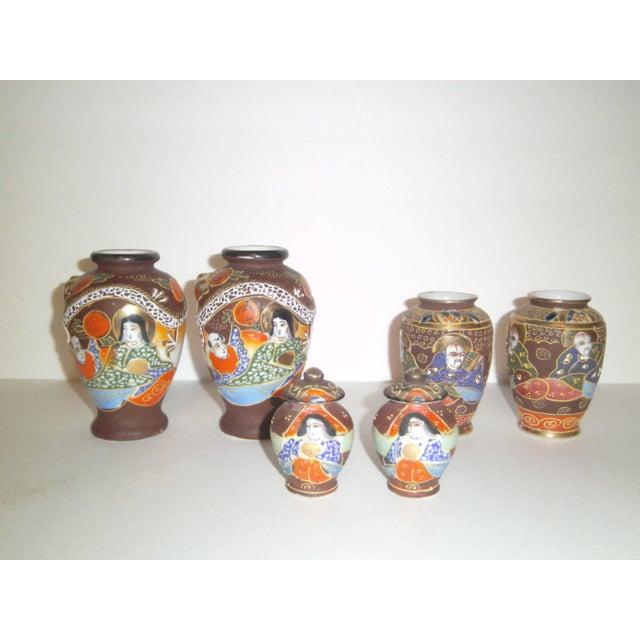 Satsuma Vases & Ginger Jars - Three Pair - Image 2 of 11