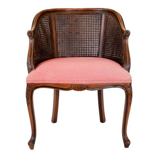 Double Caned Arm Chair For Sale
