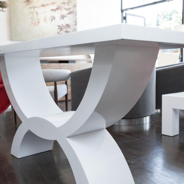 Custom Lacquered Console Table - Image 4 of 10