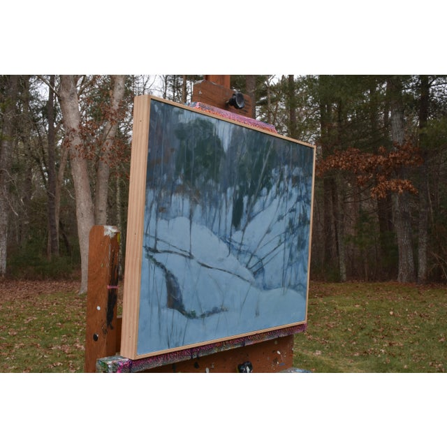 """Paint Stephen Remick """"Dusk in Winter by the Brook"""" Painting For Sale - Image 7 of 9"""
