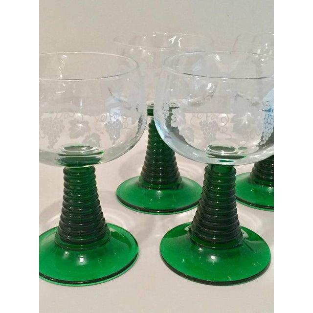 Crystal Roemer Rhine Wine Glasses - Set of 7 - Image 5 of 6