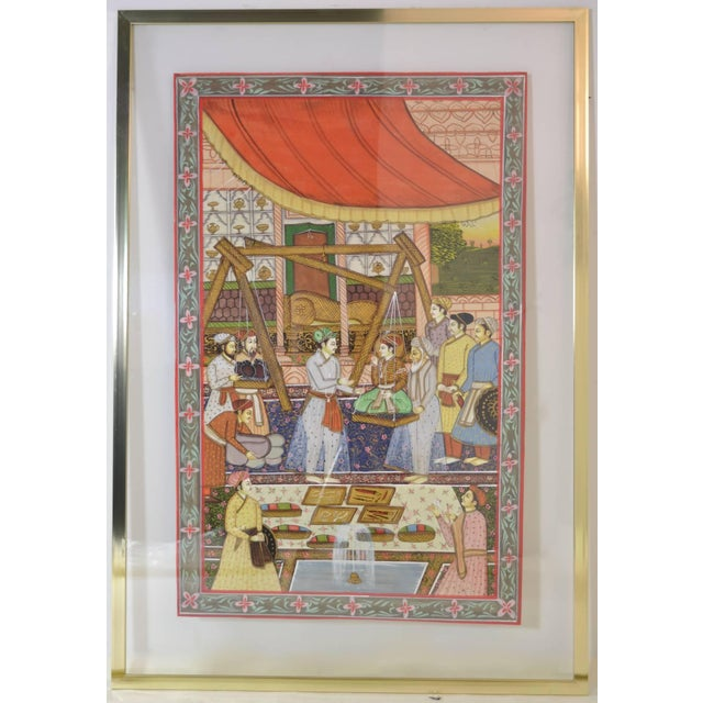 Persian Watercolors in Floating Frames - Set of 3 - Image 4 of 9